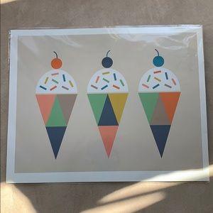 NWT The Land of Nod Ice Cream Print